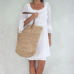 Große StrohTasche Strandtasche Stroh StrohTasche von MOOSSHOP, $40.95