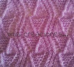 mis creaciones...: Muestras en tricot. Zig-zag 1