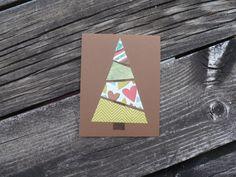 DIY Christmas card kit! Christmas Card Kit-5 cards// Christmas Tree Greeting // Holiday Blank Card