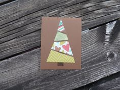DIY Christmas card kit! Christmas Card Kit-5 cards// Christmas Tree Greeting // Holiday Blank Card