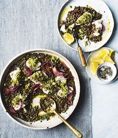 Cod With Puy Lentils   sheerluxe.com