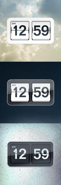Inspiração para um relógio com flip