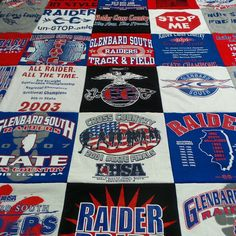 T-Shirt Quilt BEST PRICE GUARANTEED A custom by ProjectRepat