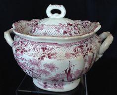 Antique-Staffordshire-Sunderland-mulberry-purple-transferware-sugar-bowl