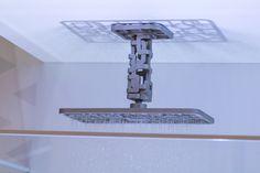 Chuveiro 3D  Produto conceito, o Chuveiro 3D é composto por traços delicados e modernos. O chuveiro é feito de tramas entrelaçadas por onde a água percorre e é distribuída, trazendo leveza e suavidade ao chuveiro.