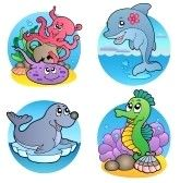 Similar:9443067 : Varios animales y agua peces 1 - ilustración vectorial.  Foto de archivo