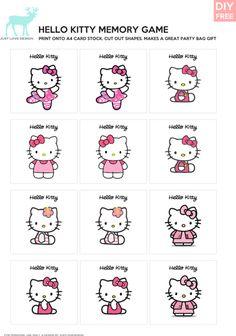 Hello Kitty Memory Game  More fun printable party stuff - Download Hello Kitty Memory Game