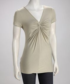 Look at this #zulilyfind! Beach V-Neck Accordion Top #zulilyfinds