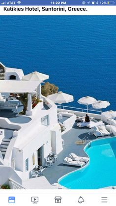 Katikies Hotels in Santorini.ah Santorini I will visit you one day! Katikies Hotel Santorini, Santorini Hotels, Santorini Greece, Santorini Island, Places Around The World, Oh The Places You'll Go, Places To Travel, Places To Visit, Dream Vacations