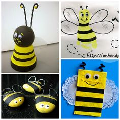 Buzzworthy Bee Crafts for Kids - Kids Art Craft Bee Activities, Craft Activities For Kids, Preschool Crafts, Craft Ideas, Bee Crafts For Kids, Art For Kids, Arts And Crafts, Insect Crafts, Bee Theme