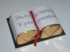 Turn those Hershey Nuggets into a miniature book with these instructions.