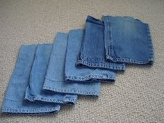 Old blue jeans have multiple uses in survival kits: