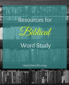 Resources for Biblic