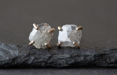 Image of Natural Rose-Cut Diamond Slice Studs Earring- as seen in LUCKY magazine