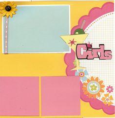 2 page Scrapbooking Layout Kit  Girls Night Out by CropALatteToGo, $10.00