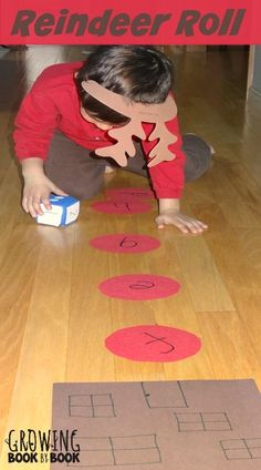 alphabet activities: reindeer roll game is a wonderful game to work on gross motor skill and letter recognition with a holiday twist Christmas Activities For Kids, Preschool Christmas, Christmas Themes, Kids Christmas, Christmas Alphabet, Preschool Winter, Winter Activities, Country Christmas, Merry Christmas