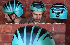 Blue tiger helmet http://captainblueberryjournal.blogspot.com/2011/11/new-hand-painted-helmets.html