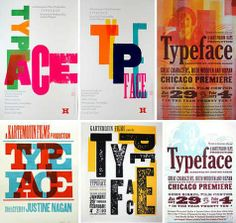 Type posters in lovely vibrant colours.