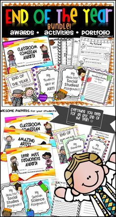 End of the Year Portfolios, Awards, Memory Book, & Activities for your students! Have an EPIC End of the year in the classroom! ;)