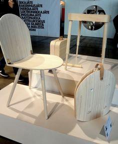 Habitaren ekodesign-näyttelyssä nokkelia keksintöjä näytillä. #ecodesign #habitare2014 #tuoli #salkku