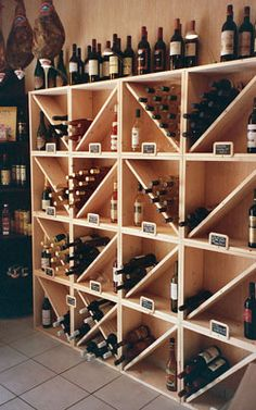 Bottle racks, wine rack, wine storage, furnishings … – Wine World Wine Shelves, Wine Storage, Wine Cellar Design, Wood Rack, Bottle Rack, Bottle Opener, Wine Cabinets, Restaurant Design, Home Projects