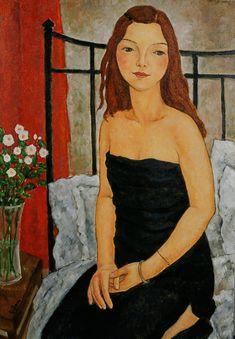 Girl in Black Dress by Xi Pan Female Portrait, Portrait Art, Female Art, Xi Pan, Blood Art, Creation Photo, Portraits, Art Moderne, Art Studies