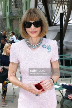 Journalist Anna Wintour attends the Chanel Haute Couture Fall/Winter 2017-2018 show as part of Haute Couture Paris Fashion Week on July 4, 2017 in Paris, France.
