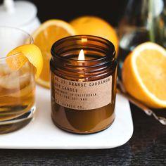 Nº 27: Pomander naranja cardamomo - vela de cera de soya de 7.2 oz - clavo de olor / spiced chai tea latte / haba tonka y vainilla - P.F. vela Co.