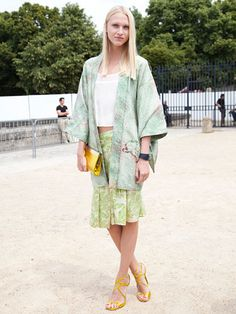 Fall 2013 Couture Week Street Style: Yulia Lobova, wearing a Jimmy Choo bag