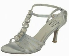 Diamante Silver Evening Sandals.  Perfect for weddings, proms and special occasions.