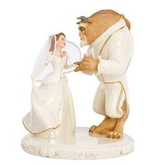 Image detail for -Wedding Dreams'' Beauty and the Beast Cake Topper by Lenox