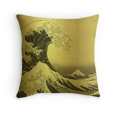 Golden Japanese Great Wave off Kanagawa by Hokusai   Golden Japanese Great Wave off Kanagawa by Hokusai  The Great Wave off Kanagawa also known as The Great Wave or simply The Wave is a woodblock print by the Japanese ukiyo-e artist Hokusai. It was published sometime between 1830 and 1833 and is one of the best-recognized works of Japanese art in the world. It depicts an enormous wave threatening boats off the coast of Kanagawa. While sometimes assumed to be a tsunami the wave is more likely…