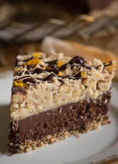 Orange Chocolate Hazelnut Tort with Hazelnut Caramel Topping