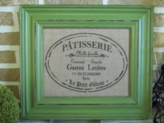 Burlap Print  French Pastry Label by SimplyFrenchMarket on Etsy, $15.00