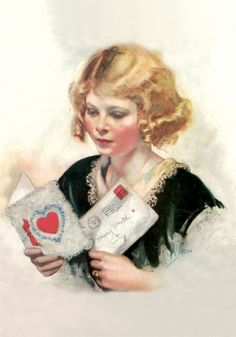 Girl with Valentines  Inside Verse: You will forever be stamped upon my heart.