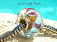 PELICAN POOP LOL Fully Lined Sterling Silver Big by beachlifebeads, $17.50
