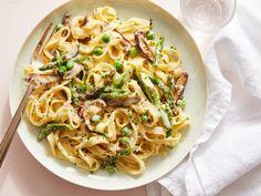 Get Spring Vegetable Fettuccine Alfredo Recipe from Food Network
