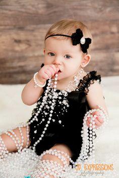 Bow noir bébé bandeaux serretête nouveauné par BabyliciousDivas