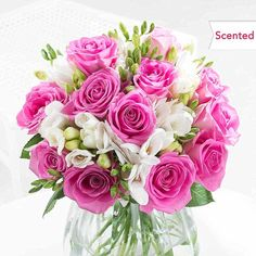 Our classic combination of Elegant Rose and Freesia is a customer favorite, the perfect flowers for a birthday surprise with free delivery included