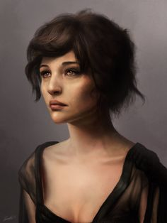 Female portrait by Matija5850.deviantart.com on @DeviantArt