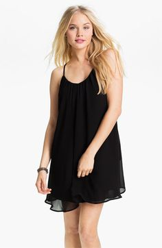 Dee Elle Chiffon Trapeze Dress (Juniors) available at #Nordstrom