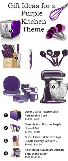 Small Appliances and Gadgets on Pinterest  Purple kitchen, Appliances