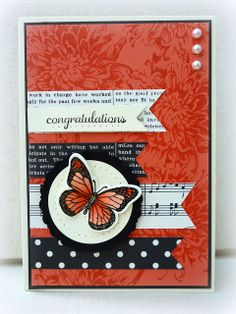 White House Stamping: Calypso Butterfly Banners...