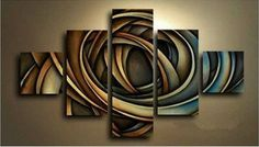 Details about 5 pieces Large canvas Modern hand-painted Art Oil Painting (NO fr