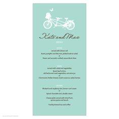 bicycle invitations wedding | single sided invitations single sided invitations table numbers thank ...
