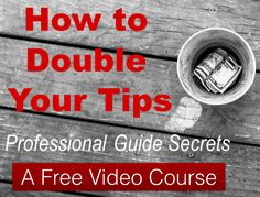 How to earn more tips? A free video course on making more gratuities!