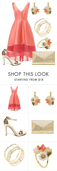 """Sans titre #4464"" by kina-ashley ❤ liked on Polyvore featuring ML Monique Lhuillier, Les Néréides, Franchi and Kendra Scott"