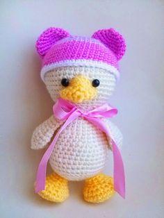 Amigurumi pato del bebé patrón de crochet libre