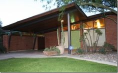 Amazing Fred Weaver Designed Mid Century Modern Home For Sale In Phoenix. Check out the moldings on the front door.