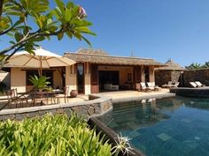 Mauritius West Coast & Center villa rental - Pool and house from main lawn